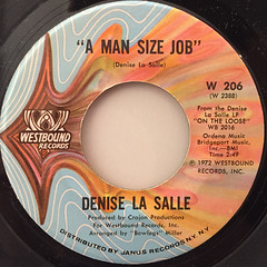 DENISE LA SALLE:A MAN SIZE JOB(LABEL SIDE-A)