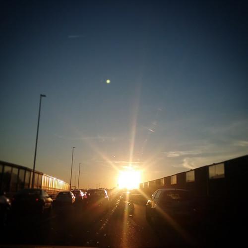tramonto di ritorno dalla reggia di Caserta