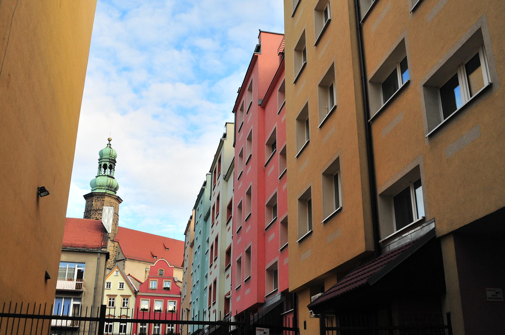 colourful flats in Jelenia Gora