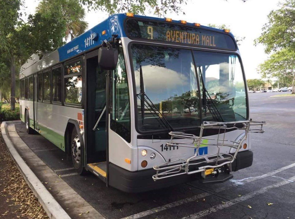 miami dade transit no. 14111 route 9 aventura mall july/20
