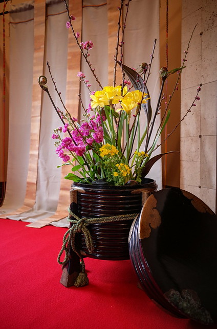 spring flowers in drawing room