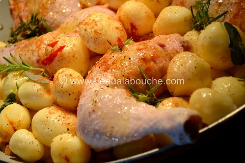 cuisses de poulet pommes de terre r ties ana luthi tou