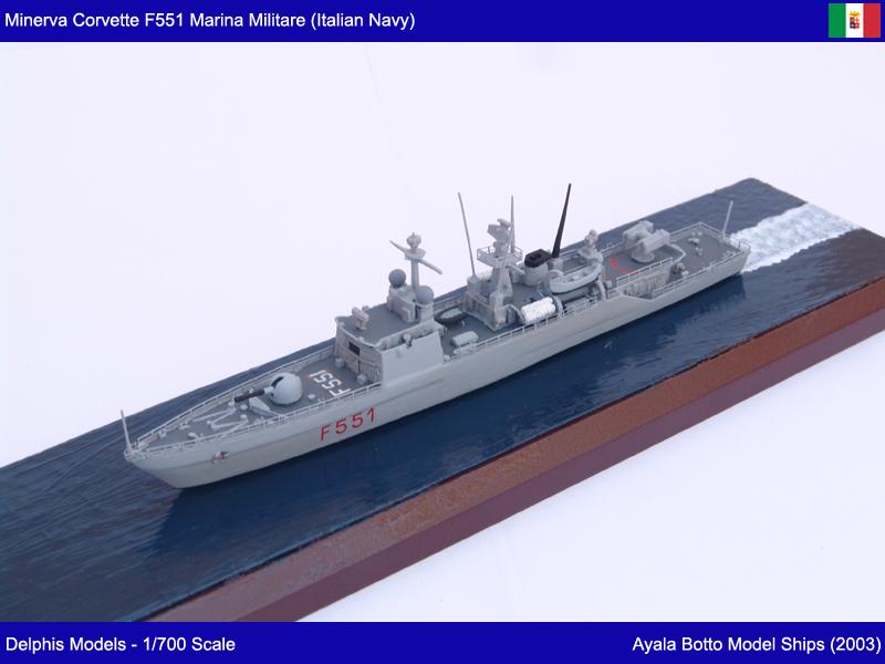 Corvette Minerva F551 Marina Militare - Delphis Models 1/700 21739185546_8ffaabd666_c