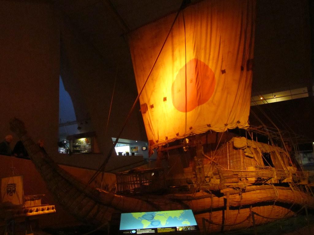 Barco KonTiki en el museo Kon Tiki