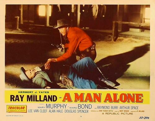 A Man Alone - lobbycard 3