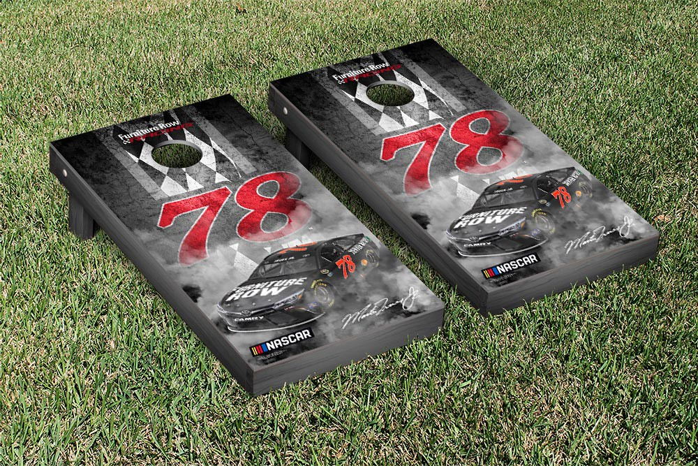 MARTIN TRUEX #78 CORNHOLE GAME SET CONCRETE VERSION (1)