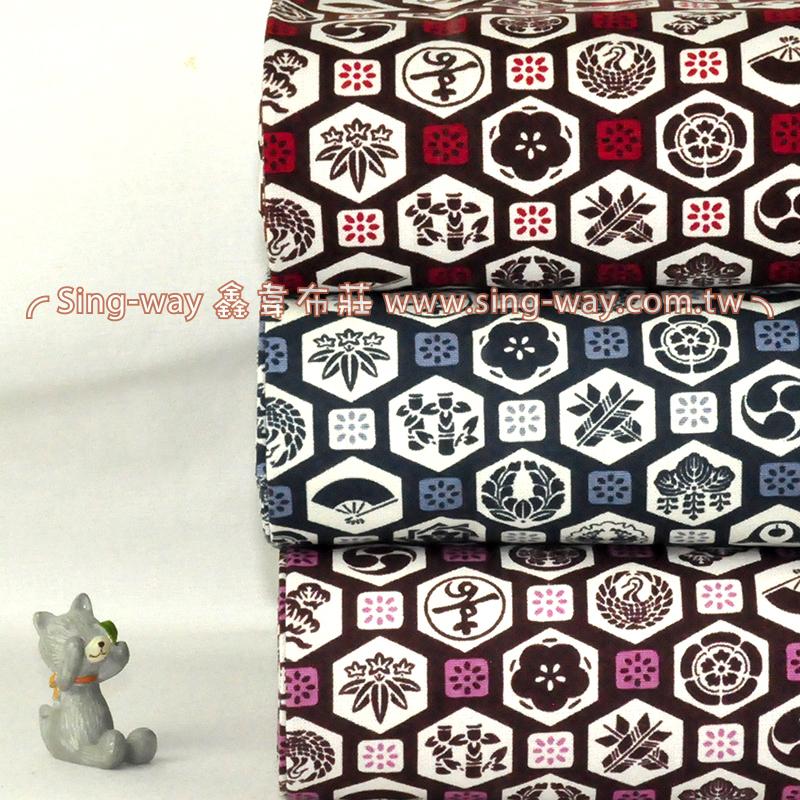 日式小牌 日式和風圖標 手工藝DIy拼布布料 CF550547