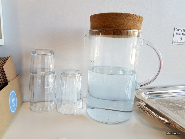 corked water pitcher
