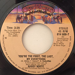 BARRY WHITE:CAN'T GET ENOUGH OF YOUR LOVE,BABE(LABEL SIDE-B)