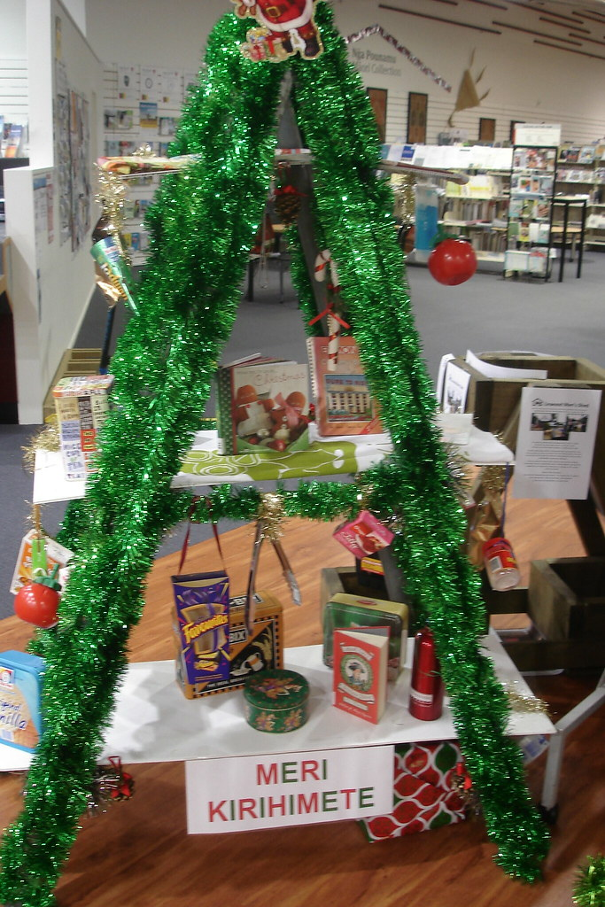 christmas decorations at linwood library by christchurch city libraries - Library Christmas Decorations