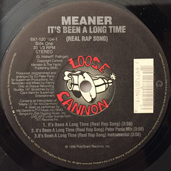 MEANER:IT'S BEEN A LONG TIME(REAL RAP SONG)(LABEL SIDE-A)