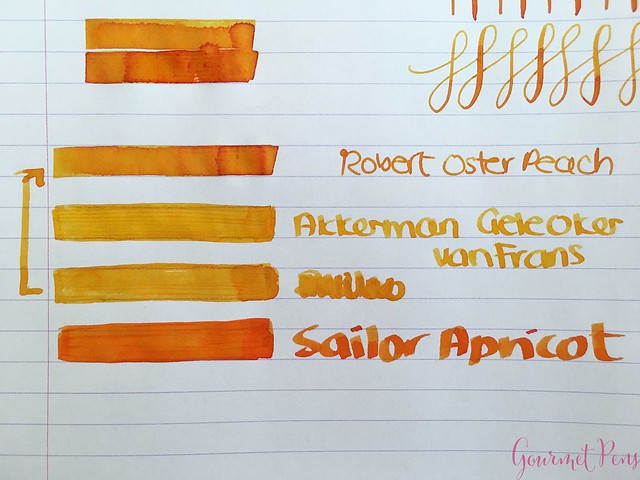 Ink Shot Review @RobertOsterInk Peach @SakuraFPGallery 5