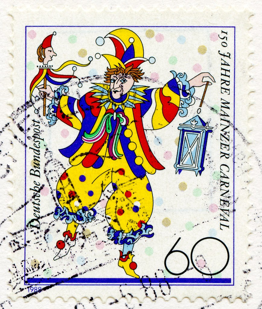 Great Stamp Germany 60 Pf Clown 150th Anniversary Of Mai Flickr