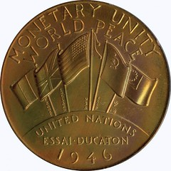 1946 United Nations Monetary Pattern obverse