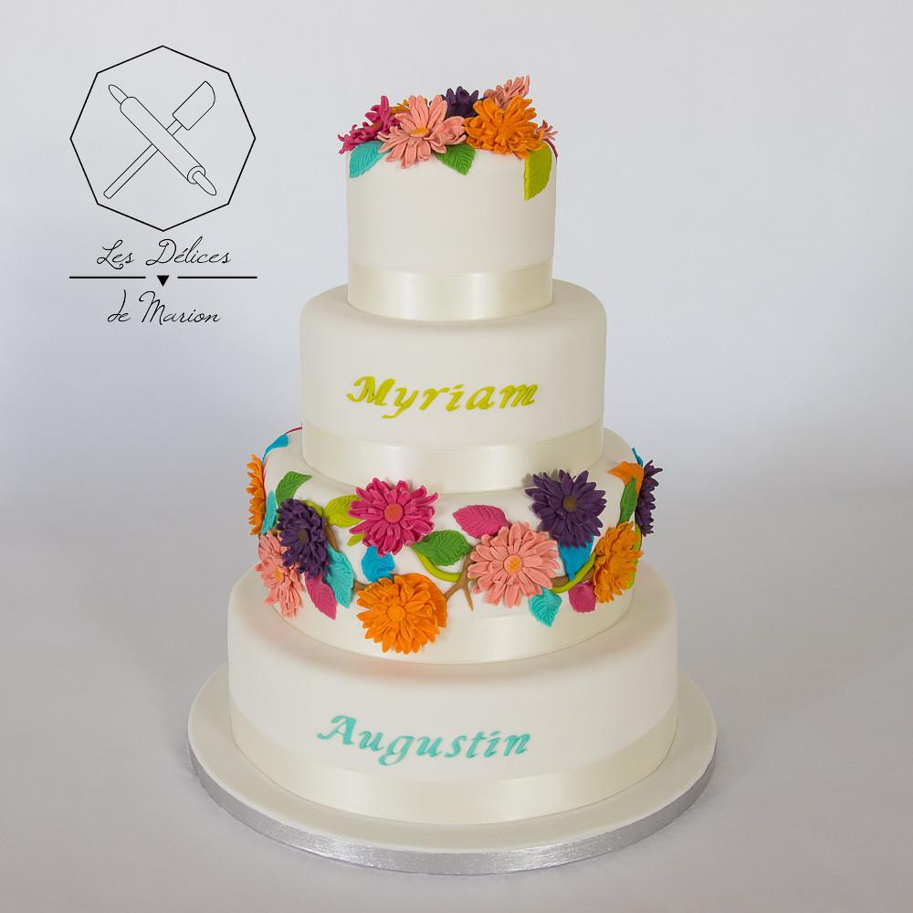 Gateau Mariage Wedding Cake Delices Marion Fleurs Les Delices De
