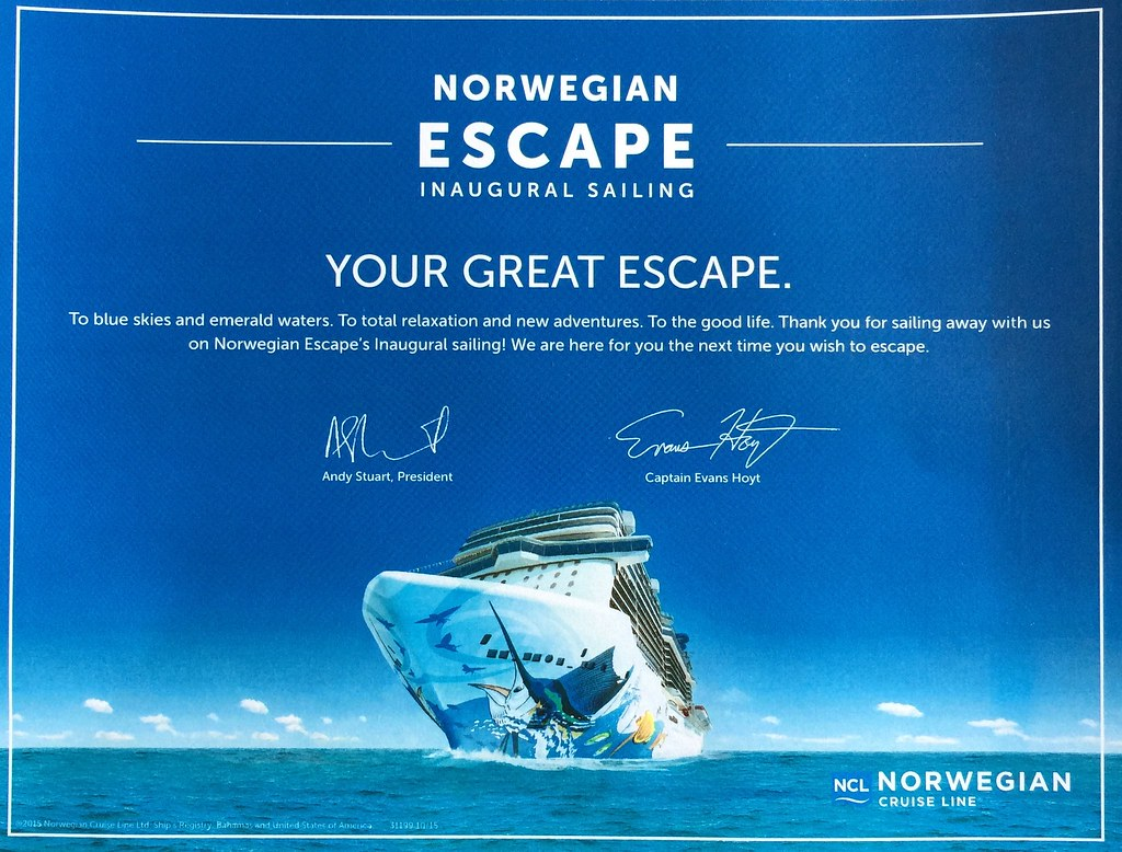 Norwegian Escape Freestyle Daily