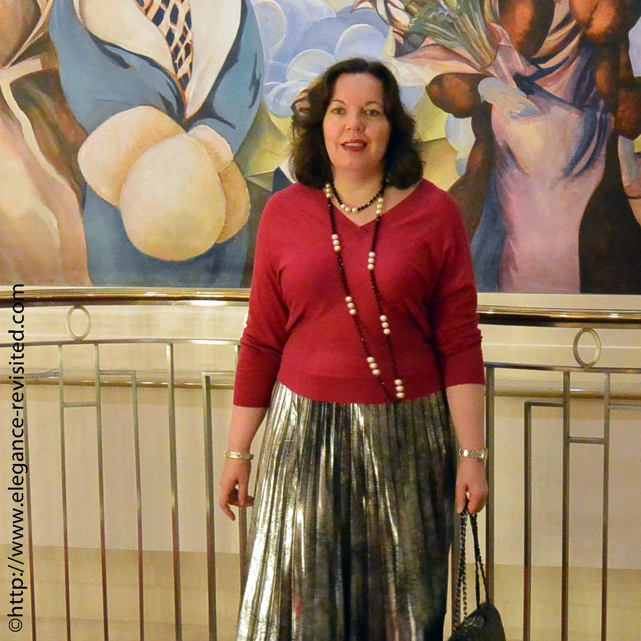 how to wear metallics over 40