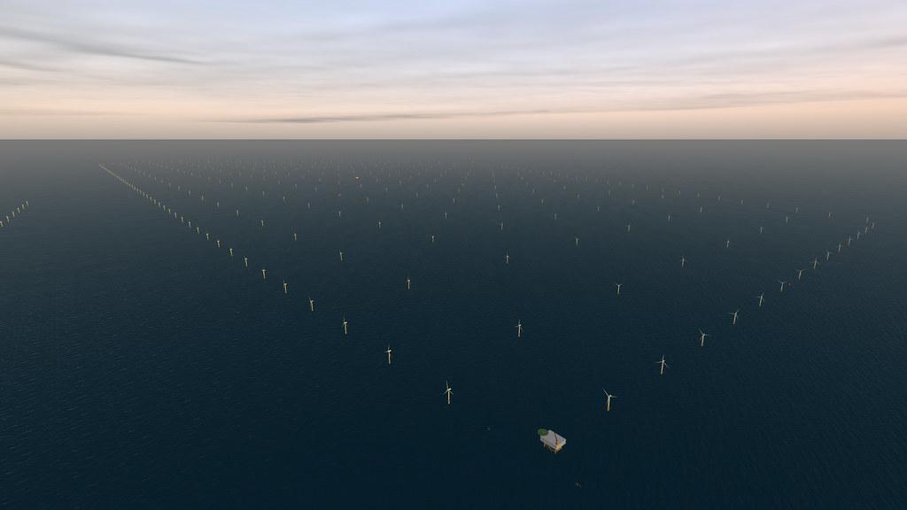 藝術家對北海電廠的想像圖。DECCgovuk(CC BY-ND 2.0)