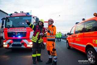 Schwerer Lkw-Unfall A3 Frankfurter Flughafen 14.03.17