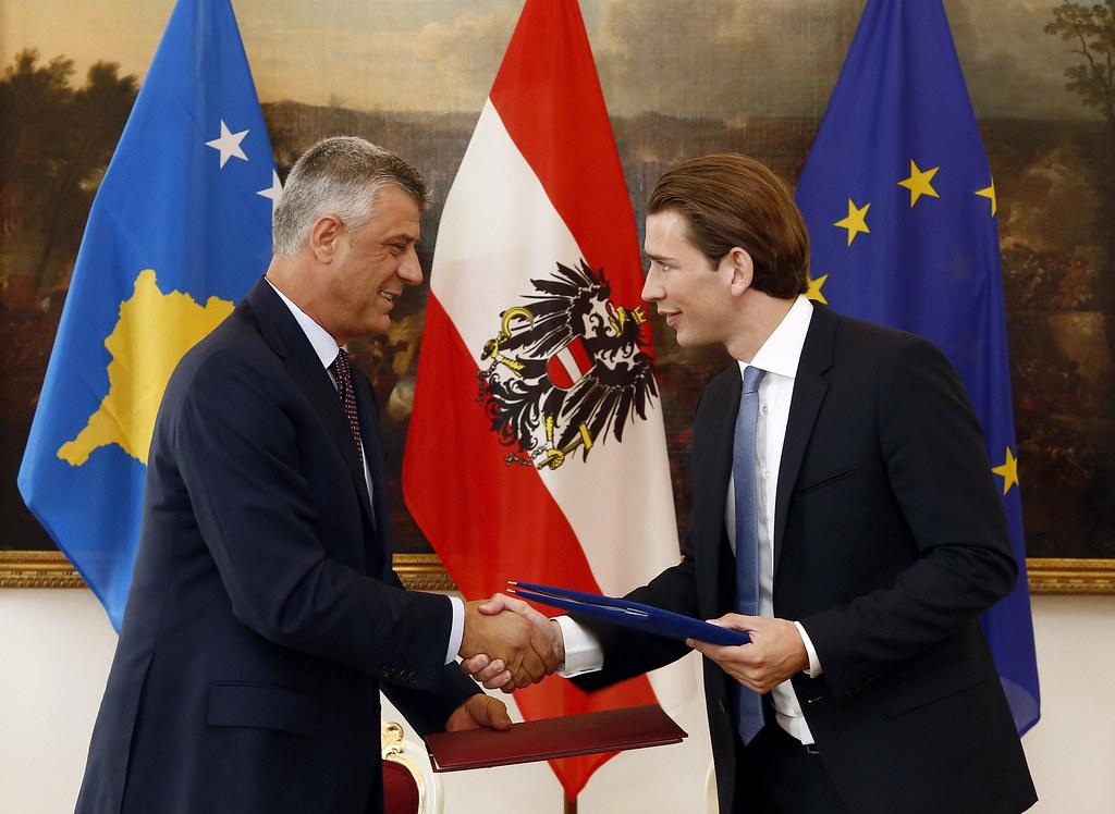 Kurz traf kosovarischen Präsidenten Thaci