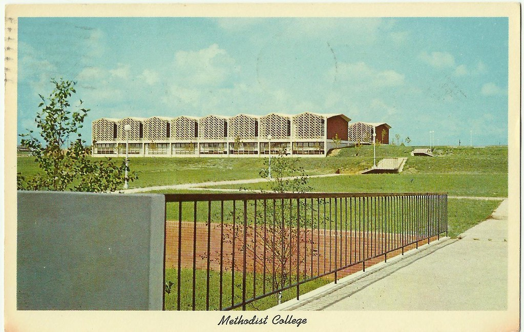An early postcard of Methodist College. Image from the State Archives.