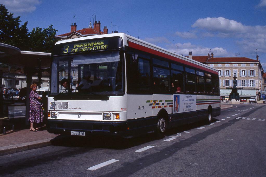 jhm 1992 0241 france bourg en bresse autobus renault r flickr. Black Bedroom Furniture Sets. Home Design Ideas