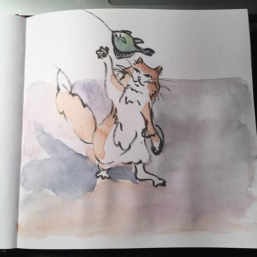 snorrepost brush drawing