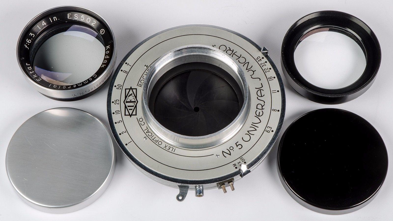 Kodak Commercial Ektar ILEX 14 inch Lens f6.3 Universal Synchro Shutter in Original Boxes 7