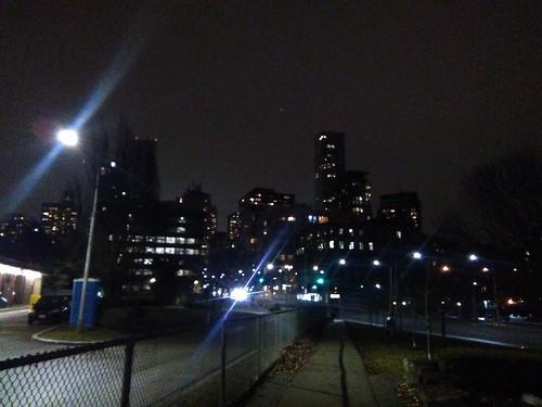 Looking south from Rosedale, night #toronto #yorkville #rosedale #skyline #night