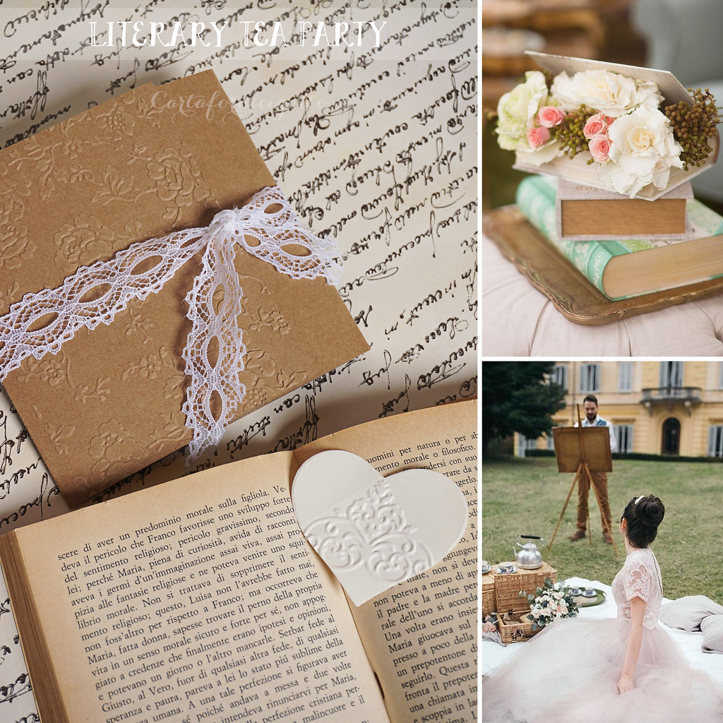 Matrimonio In Jane Austen : Literary tea party wedding invitations partecipazioni no