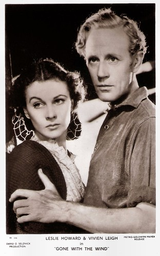 Leslie Howard and Vivien Leigh in Gone with the Wind (1939)