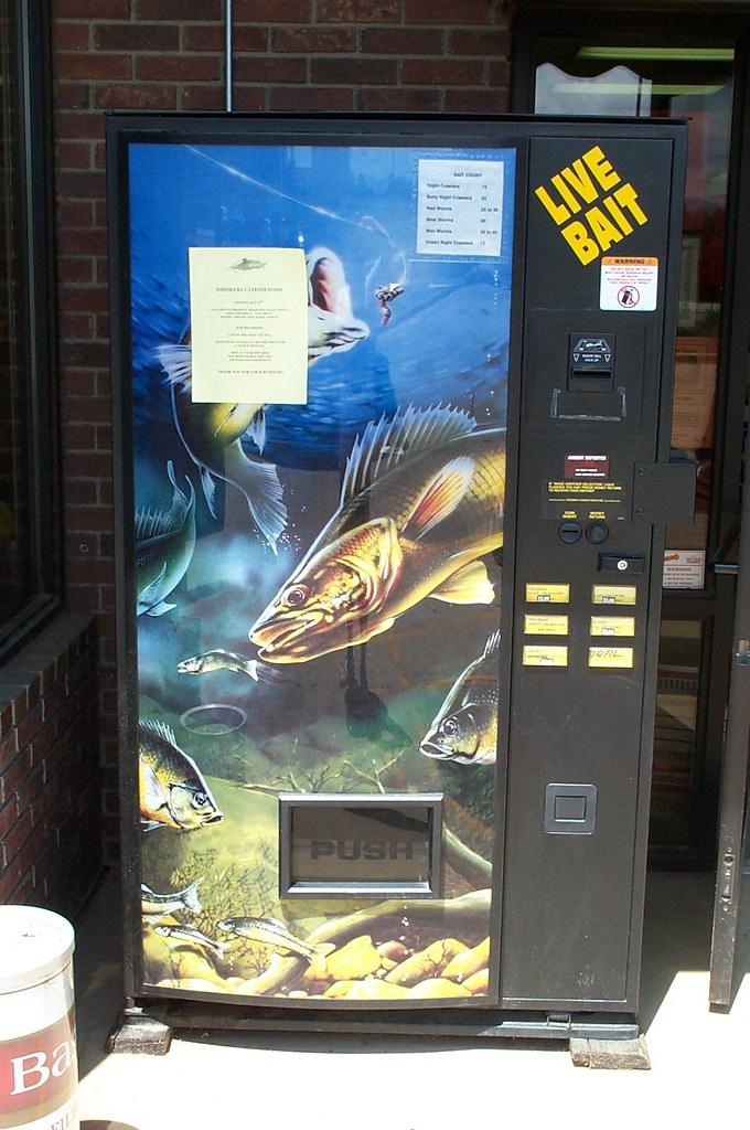 Live Bait Vending Machine Franklin Nc Billy Bob Bain