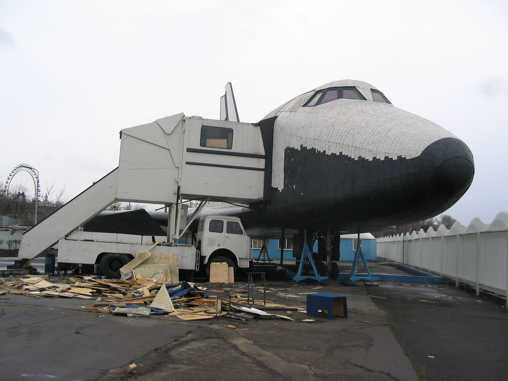 Buran Abandoned Sitting In The Corner Of The Chintzy