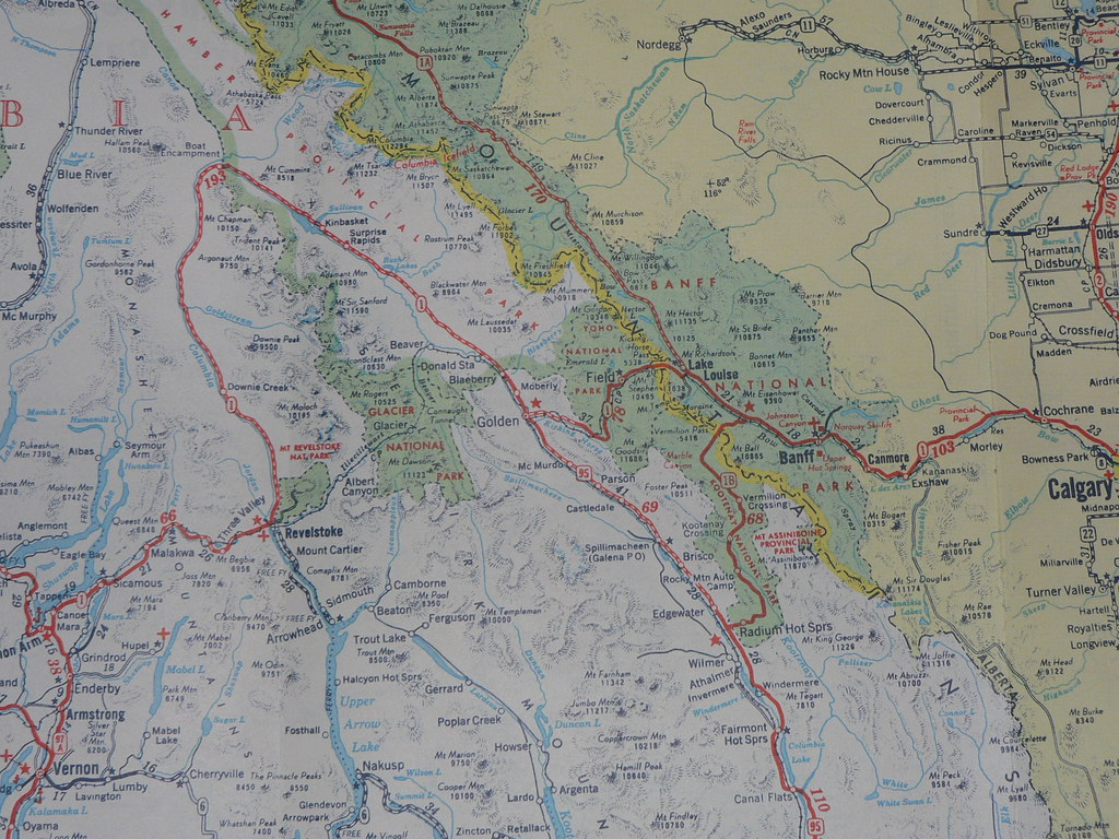 1956 BC Road Map 1956 road map of British Columbia and B Flickr