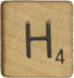 scrabble h | by Dystopos