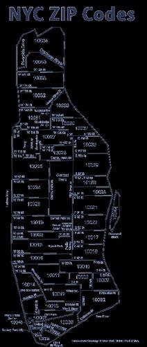 New City Ny Zip Code Map
