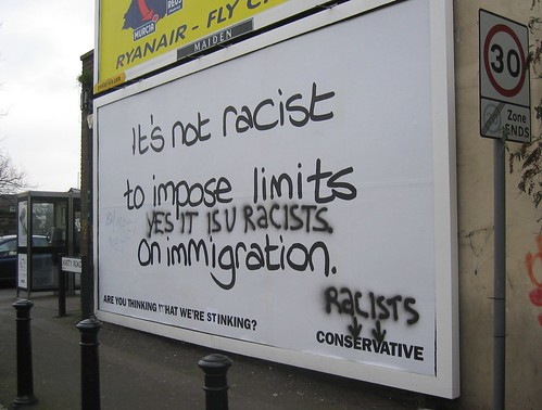 Graffiti artists hack Conservative party billboard | by nic0