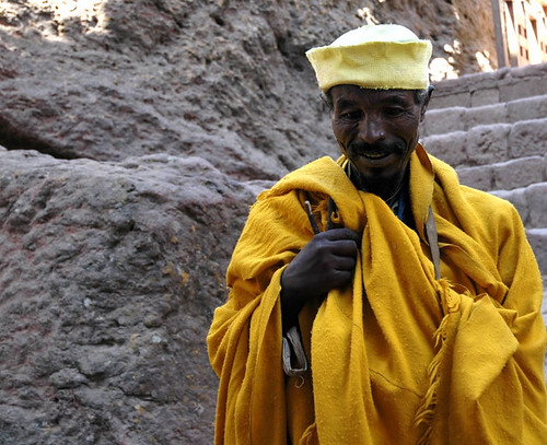 Lalibela, Ethiopia - Man in saffron robe 2 | by mexikids