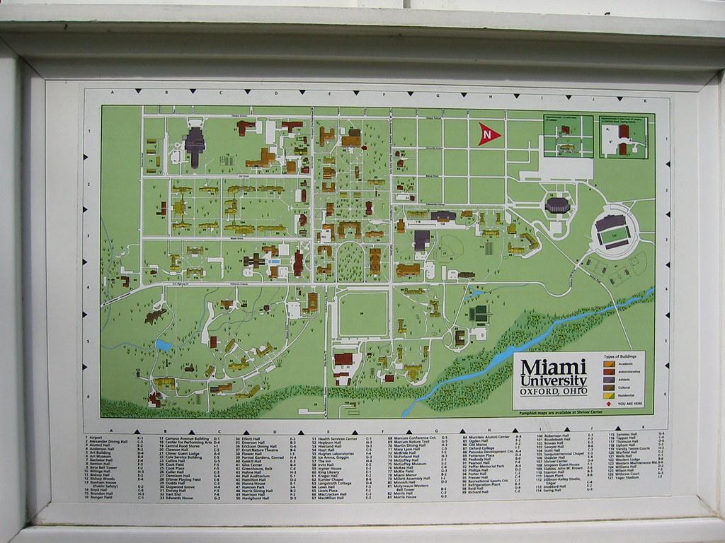 miami university oxford map Miami University Campus Map Mexico Df Map World Map With Latitude And Longitude miami university oxford map