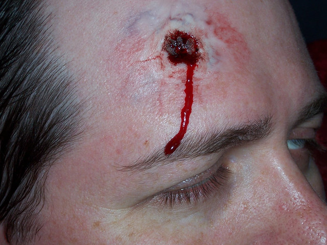 exit wound bullet exit wound makeup effect that i made