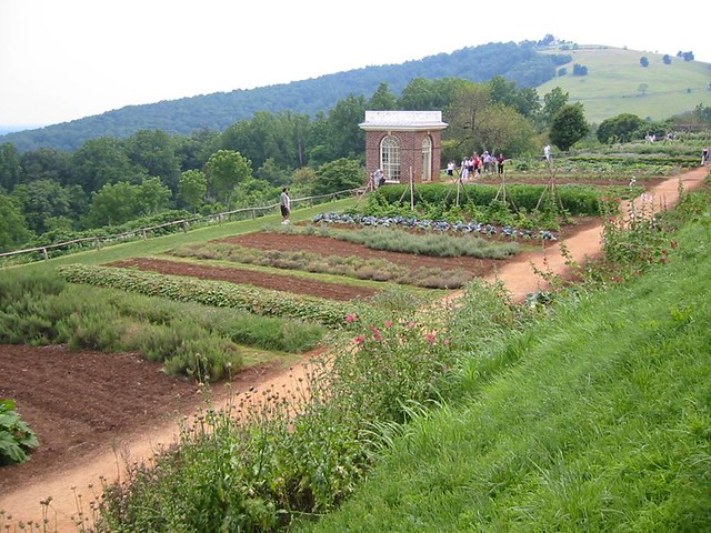 Vegetable Garden At Jefferson 39 S Home Monticello Virginia