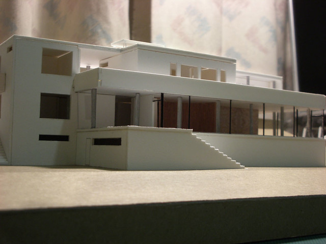 Model Of Mies Van Der Rohe S Tugendhat House Garden Side