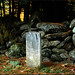 Grave by stone wall, Vermont