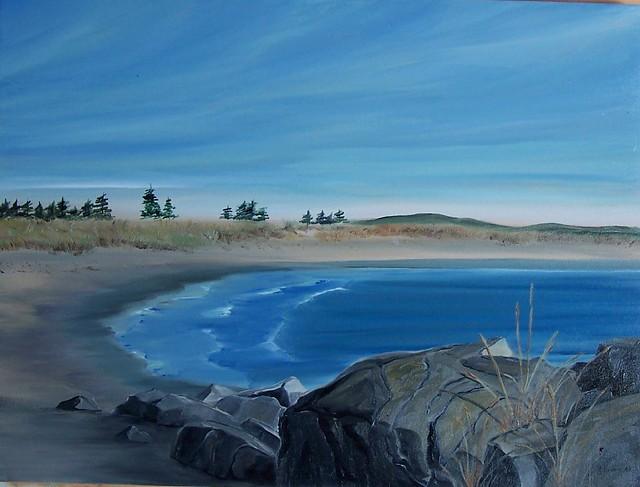 Martinique Beach, Nova Scotia   oil painting 18