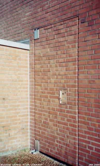 brick door | by Dystopos brick door | by Dystopos & brick door | A concealed door from a sculpture terrace at th\u2026 | Flickr