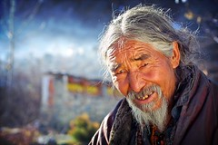 tibetan man in muktinath | by phitar