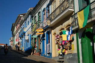 Multi colored Street in Ouro Preto, Brazil | by thombo2