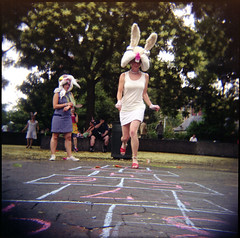 Carrot Hopscotch in Washington Square Park | by pixietart