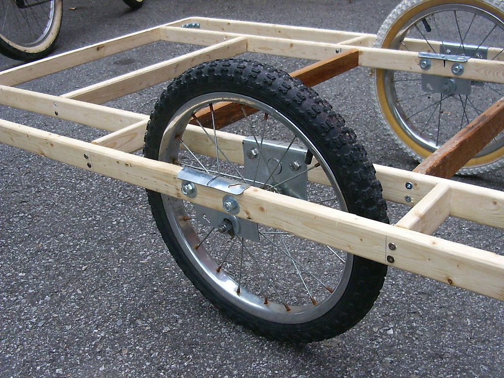 Homebuilt Bicycle Trailer 2 This Is A Bicycle Trailer
