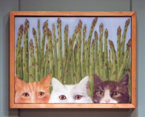 Cats with Asparagus from Julia Child's Kitchen | by AlbinoFlea